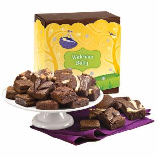 Fairytale Brownies Welcome Baby Morsel 24 Brownie Gift Box