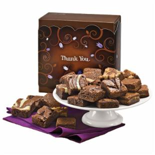 Fairytale Brownies Thank You Morsel 24 Brownie Gift Box