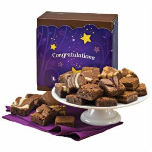 Fairytale Brownies Congratulations Morsel 24 Brownie Gift Box
