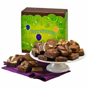 Fairytale Brownies Birthday Morsel 24 Brownie Gift Box