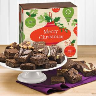 Fairytale Brownies Christmas Morsel 24 Brownie Gift Box