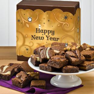 Fairytale Brownies Happy New Year Morsel 24 Brownie Gift Box