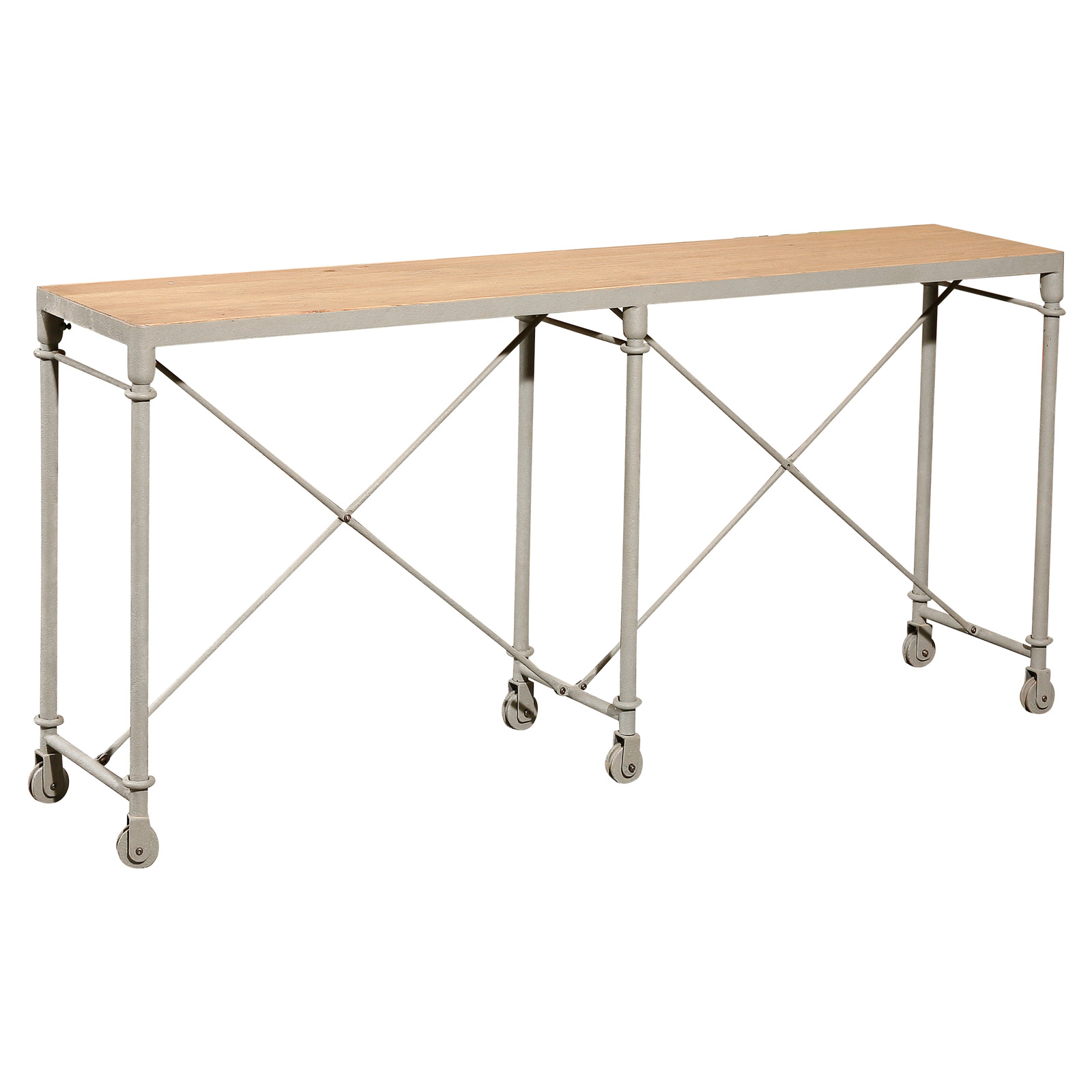 Wheeled Console Table ~ Coffee tables shop at hayneedle