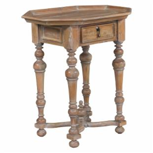 Octagonal Plank Top Side Table