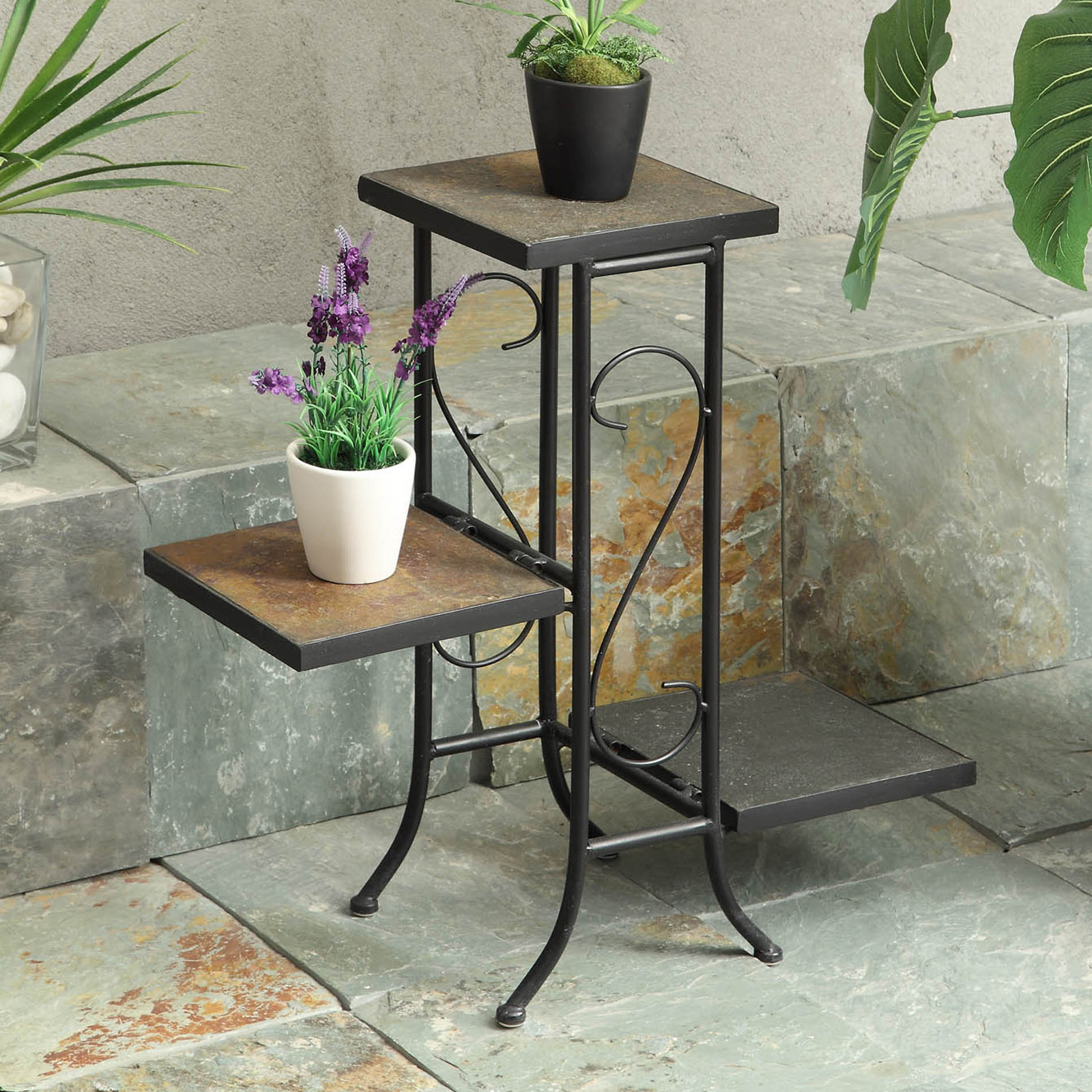 4d Concepts 3 Tier Slate Plant Stand Tiered Plant Stands