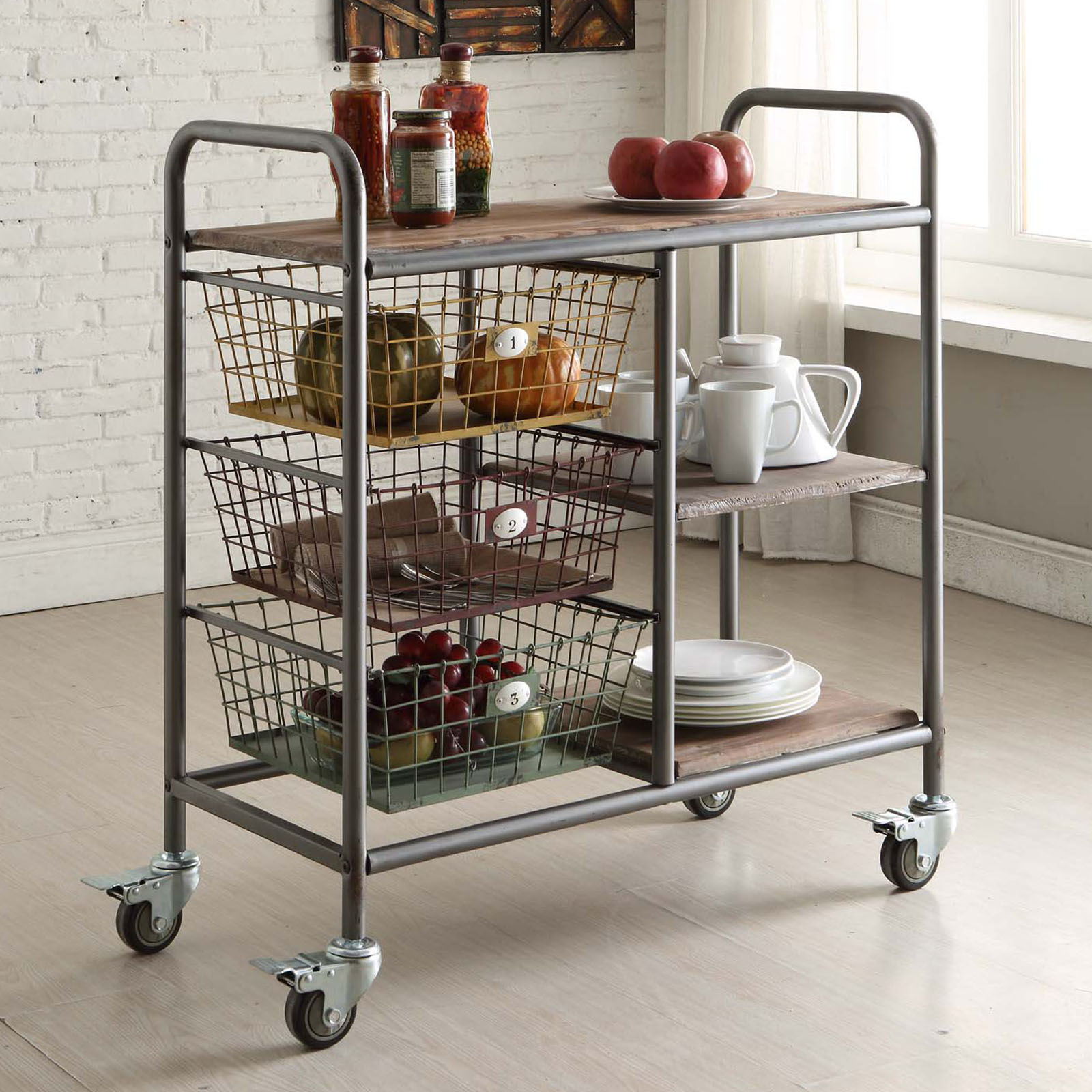 4d concepts urban collection kitchen trolley serving for Kitchen trolley design
