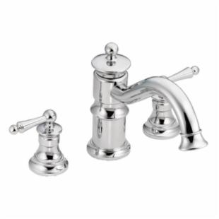 Moen Waterhill TS214 Roman Tub Faucet with Rotating Spout