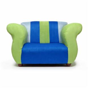 Fantasy Furniture Fancy Chair - Blue and Green