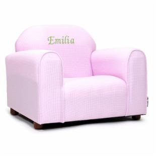 Fantasy Furniture Personalized Kids Mini Chair Pink Gingham