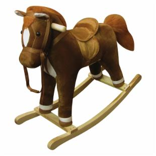 Coffee Plush Rocking Horse