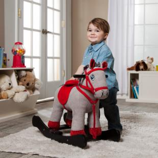 Corduroy Horse Rocking Horse