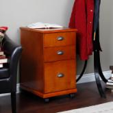The 3 Drawer Mobile Filing Cabinet - Oak