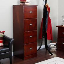  Valona Custom Four Drawer Filing Cabinet - Dark Cherry