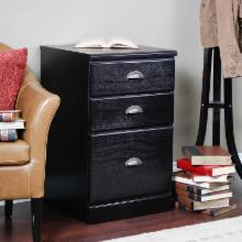  Valona Custom Three Drawer Filing Cabinet - Black