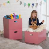  Classic Playtime Stackable Open Storage Bin - Pink Parfait