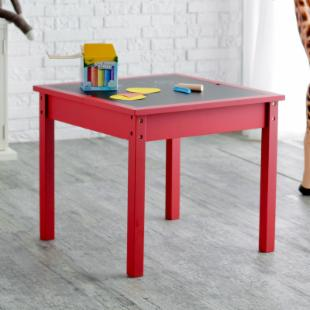 Classic Playtime Reversible Top Table with Optional Stools - Licorice Red