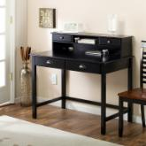  Valona Black Writing Desk with Optional Hutch