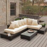  Sheffield Sunbrella All-Weather Wicker Sectional Set-Seats 5
