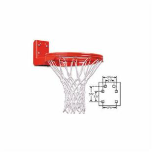 First Team Super Duty Double Rim Rear Mount Fixed Basketball Goal