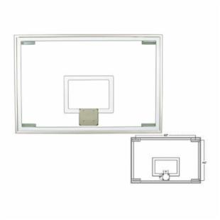 First Team 48 x 72 Official Glass Backboard