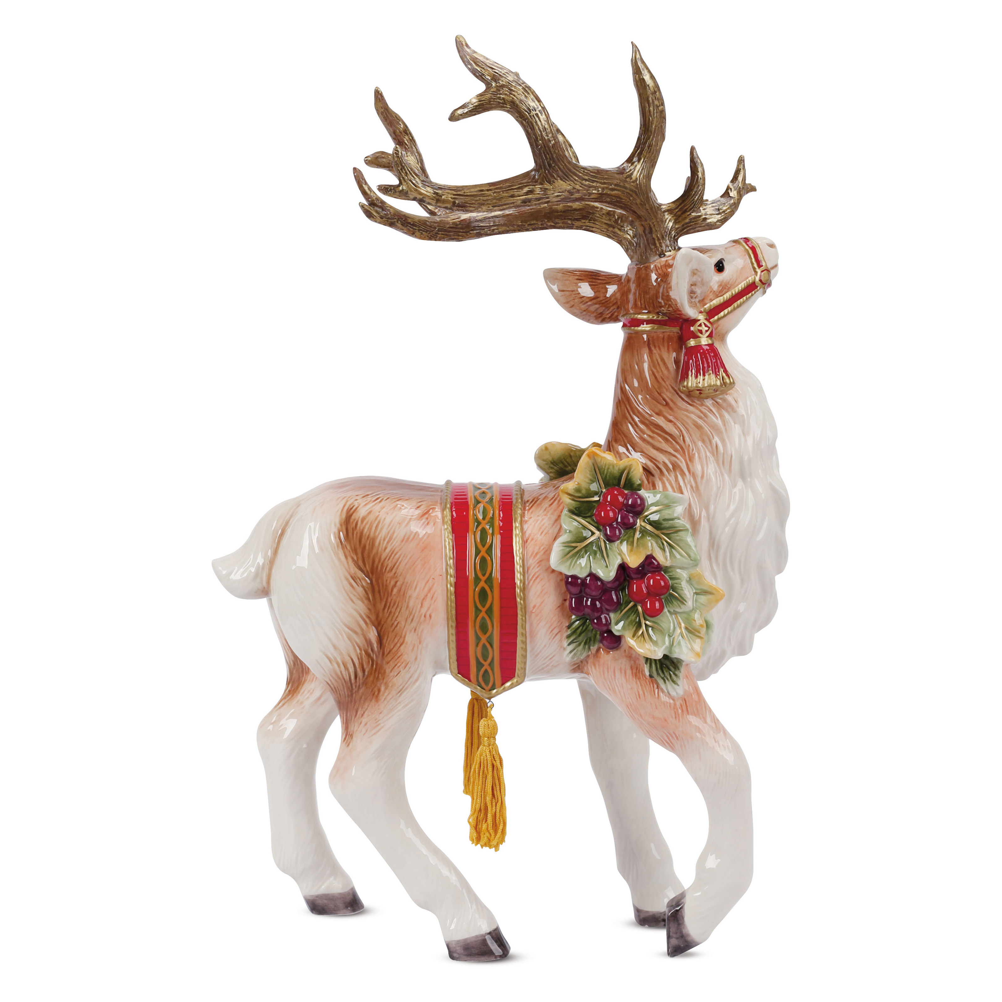 Fitz And Floyd Regal Holiday Deer Figurine Christmas