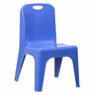 Plastic Stackable School Chair with Carry Handle - 11 in.