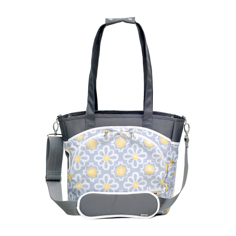 jj cole mode tote diaper bag lemon posy at hayneedle. Black Bedroom Furniture Sets. Home Design Ideas