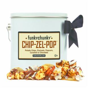 FunkyChunky Chip-Zel-Pop Pail Gift Tin