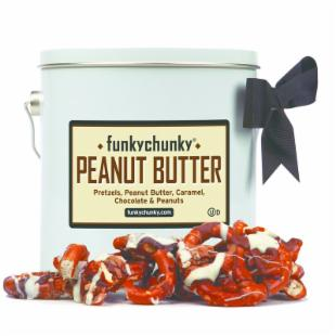 FunkyChunky Peanut Butter Pretzels Pail Gift Tin