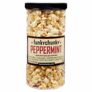 FunkyChunky Candy Cane Popcorn Tall Canister