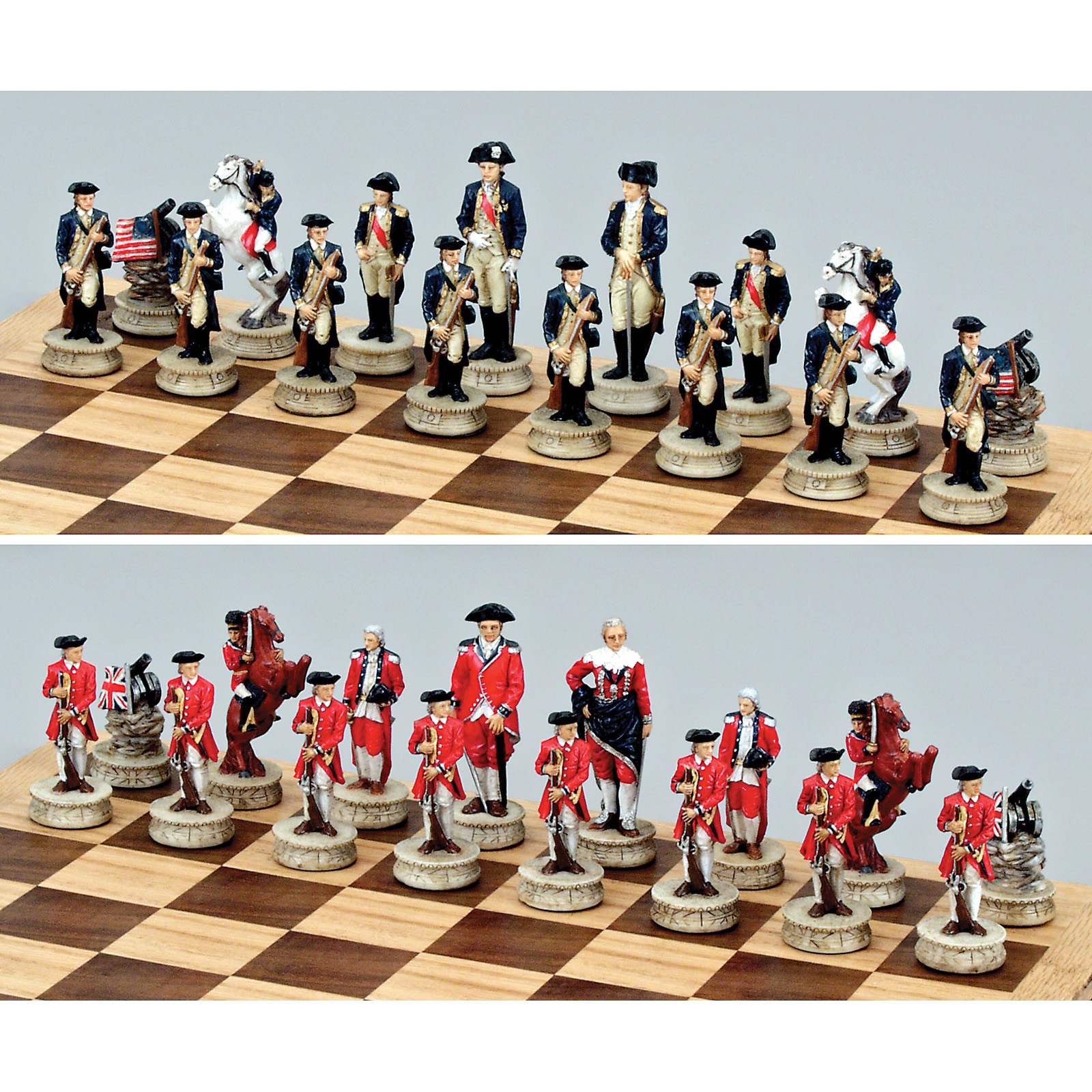 Large Revolutionary War Chess Set At Hayneedle