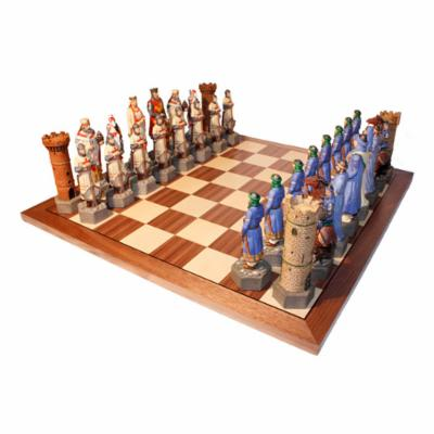  Extra Large Crusade Chess Set with 22 in. Walnut Board