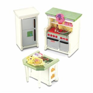 Fisher-Price Loving Family Dollhouse Kitchen Furniture - 3 Pack