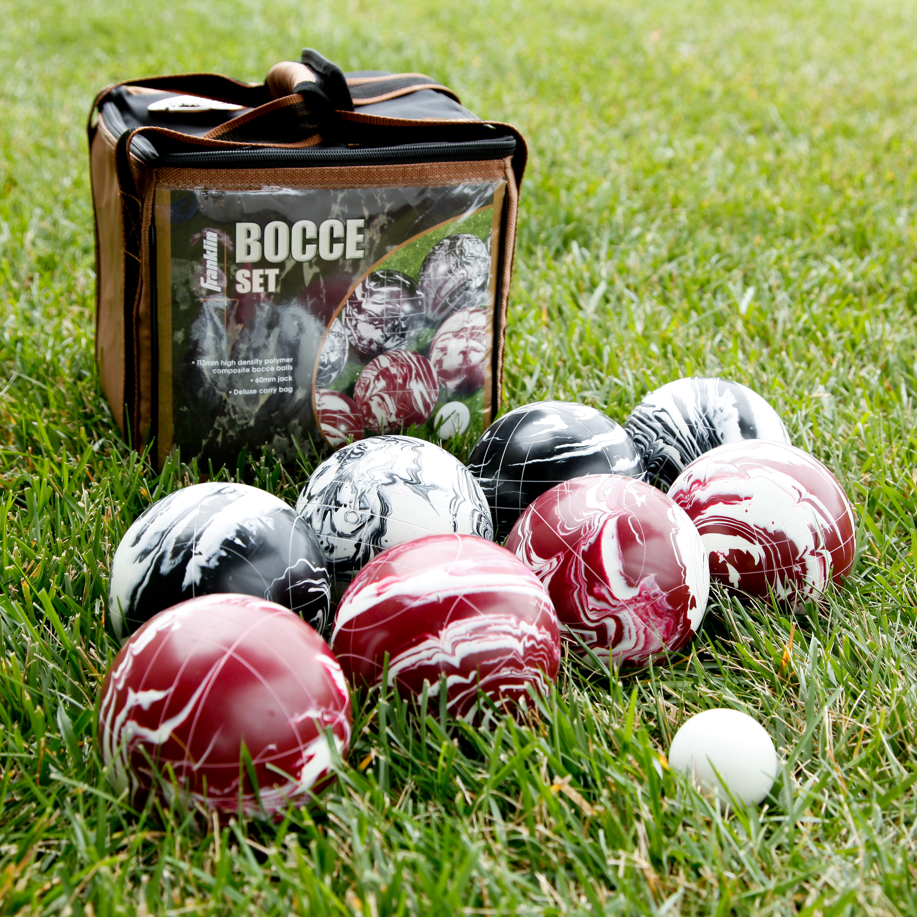 Franklin Professional Marbled 113mm Bocce Set Bocce Ball At Hayneedle