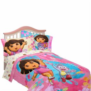 Dora Exploring Together Twin/Full Comforter with Optional Sheet Set