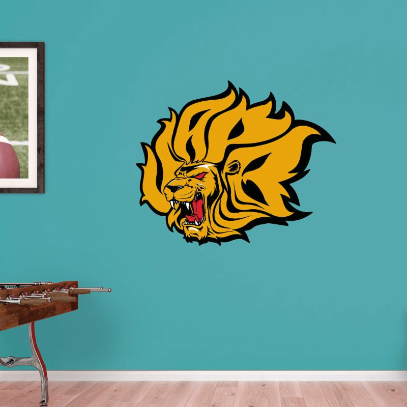 Fathead NCAA Arkansas Pine Bluff Golden Lions Logo Wall Decal FTH1366-1