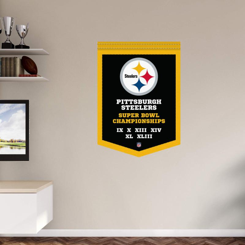 Fathead NFL Pittsburgh Steelers Super Bowl Champions Wall Decal FTH271-1