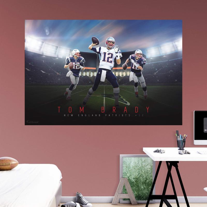 Fathead nfl new england patriots tom brady montage wall for England wall mural