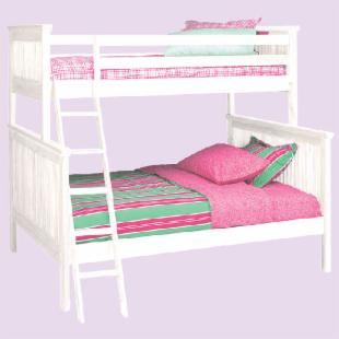 Woodland White Mission Twin over Full Bunk Bed