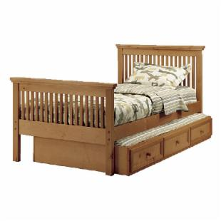 Woodland Pecan Mission Twin Bed