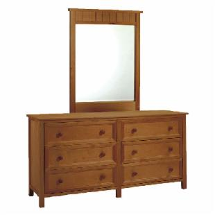 Woodland Pecan 6-Drawer Dresser