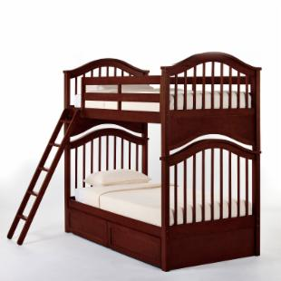Schoolhouse Jordan Twin over Twin Bunk Bed - Cherry