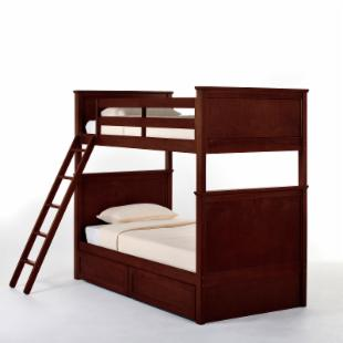 Schoolhouse Casey Twin over Twin Bunk Bed - Cherry