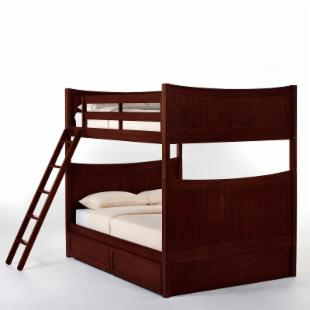 Schoolhouse Taylor Full over Full Bunk Bed - Cherry