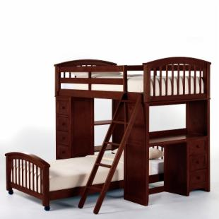 Schoolhouse Student Loft Bed - Cherry