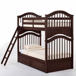 Schoolhouse Jordan Twin over Twin Bunk Bed - Chocolate
