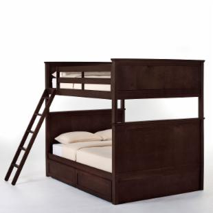 Schoolhouse Casey Full over Full Bunk Bed - Chocolate