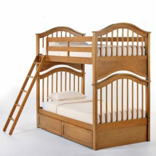 Schoolhouse Jordan Twin over Twin Bunk Bed - Pecan