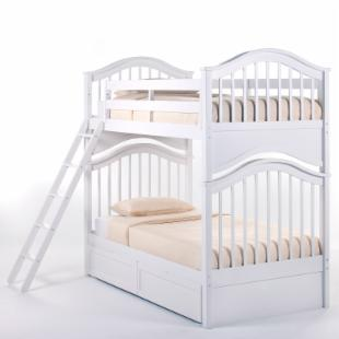 Schoolhouse Jordan Twin over Twin Bunk Bed - White