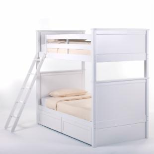 Schoolhouse Casey Twin over Twin Bunk Bed - White